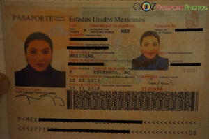 Mexican Passport Page with Mexican Passport Photo