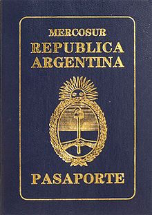 Argentina Passport book cover