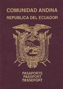 Ecuador Passport book cover