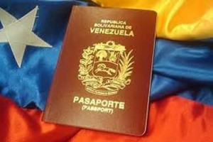 Venezuela Passport photos and book with flag